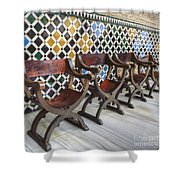 Moorish Tile Work At The Alhambra Shower Curtain
