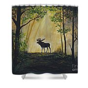 Moose Magnificent Shower Curtain