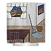 Essence Of Home - Mop And Bucket Shower Curtain