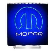 Mopar Neon Sign Shower Curtain