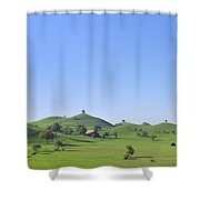 Moraine Hill Landscape Switzerland Shower Curtain