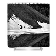 Moraine Lake Abstract - Black And White #2 Shower Curtain