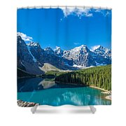 Moraine Lake At Banff National Park Shower Curtain