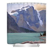 Moraine Lake Banff Shower Curtain