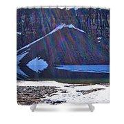 Moraine Lake Lens Flare Shower Curtain