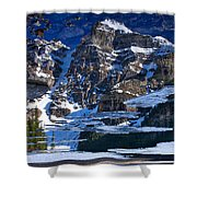 Moraine Lake Reflection Abstract Shower Curtain