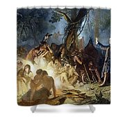 Moravian Missionary Shower Curtain