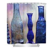 More Cobalt Blue Bottles Shower Curtain