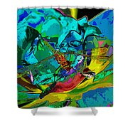 More Dragonfly Art Shower Curtain