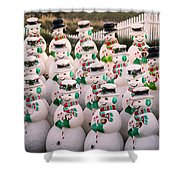 More Snowmen Shower Curtain