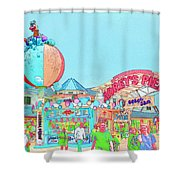 Moreys Pier Jersey Shore Shower Curtain