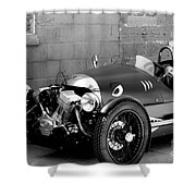 Morgan B And W Shower Curtain