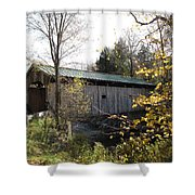 Morgan Bridge Belvidere Junction Vermont Shower Curtain