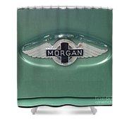 Morgan Car Emblem Shower Curtain