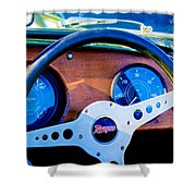 Morgan Steering Wheel Shower Curtain