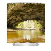 Moria Gate Arch In Opara Basin On South Island In Nz Shower Curtain