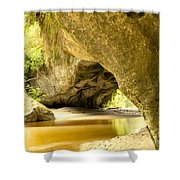 Moria Gate Arch In Opara Basin On South Island Of Nz Shower Curtain