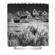 Mormon Barn Shower Curtain