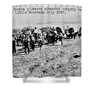 Mormon Pioneers Shower Curtain by Benjamin Yeager