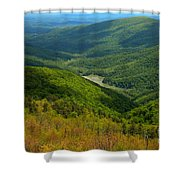 Moormans River Overlook In Spring Shower Curtain