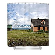 Mormon Row Historic District In Grand Tetons National Park-wyoming Shower Curtain