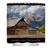 Mormon Row Poster Shower Curtain