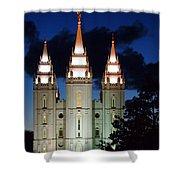 Mormon Temple Lds Utah Shower Curtain