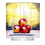 Morning Apples Shower Curtain