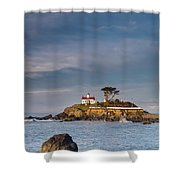 Morning At Battery Point Lighthouse Shower Curtain