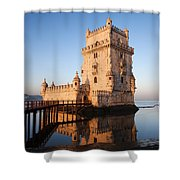 Morning At Belem Tower In Lisbon Shower Curtain