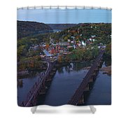 Morning At Harpers Ferry Shower Curtain