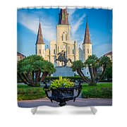 Morning At Jackson Square Shower Curtain