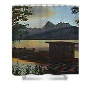 Morning At Lake Mcdonald Glacier Park Shower Curtain