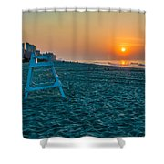 morning at  Myrtle Beach South Carolina Shower Curtain