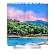 Morning At Papohaku Beach  Shower Curtain