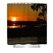 Morning At The Marsh 2 Shower Curtain
