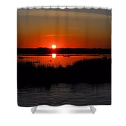Morning At The Marsh Shower Curtain