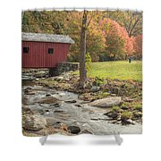 Morning At The Park Shower Curtain