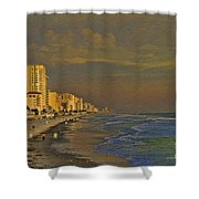 Morning Beach Walk Shower Curtain