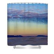 Morning Begins In White Sands Shower Curtain by Sandra Bronstein