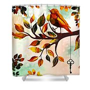 Morning Bird Shower Curtain