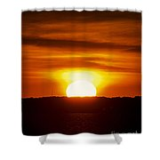 Morning Blaze Shower Curtain
