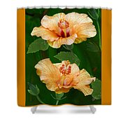 Morning Blooms - Hibiscus Shower Curtain