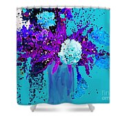 Morning Callas And Orchids  Shower Curtain
