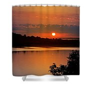 Morning Calm Shower Curtain by Christina Rollo