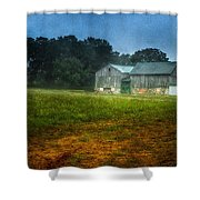 Morning Chores Shower Curtain