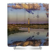 Morning Clouds At Cape May Light Shower Curtain