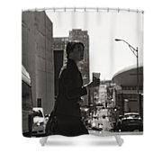Morning Coffee At Starbucks In Nashville Shower Curtain