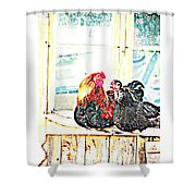 Like Morning Coffee With My Darling  Shower Curtain by Hilde Widerberg