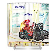 I Love My Morning Coffee Time With My Darling  Shower Curtain